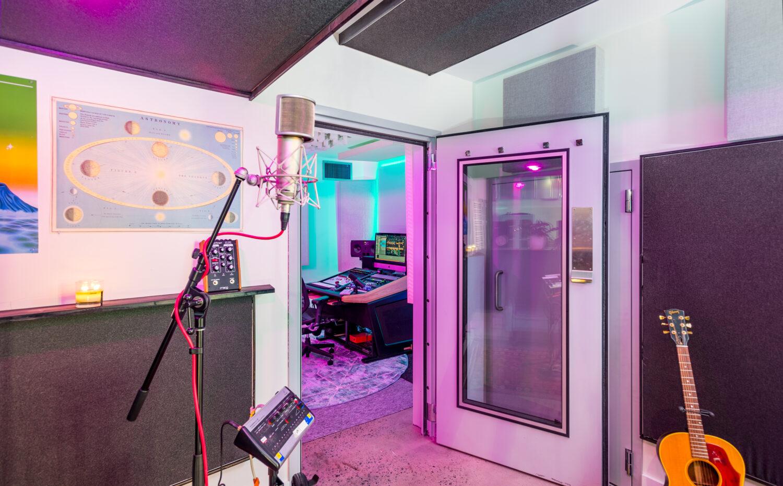 Isolation room in Recording studio